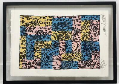 Robert Combas, 'Bain dans l'étang de Thau', 1996