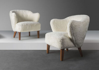 Flemming Lassen, 'A pair of lounge chairs', designed 1940