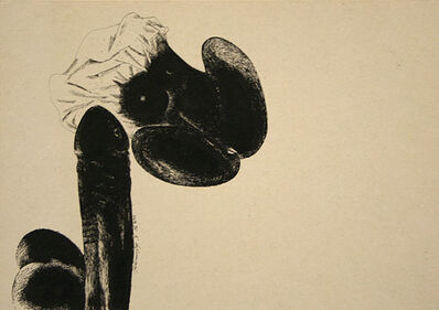 Laxma Goud, 'Untitled (Penis and Woman)', 1975