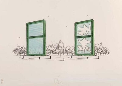 Claes Oldenburg, 'Study for a Civic Monument in the form of two windows', 1982