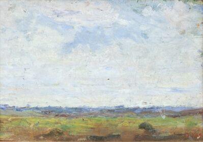 Arturo Tosi, 'Prato verde con cielo nuvoloso', early 1910s
