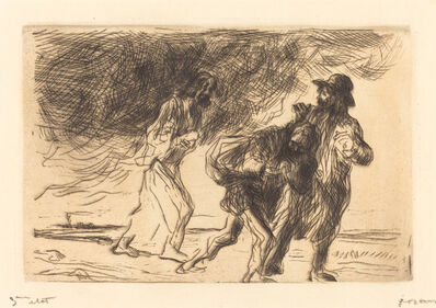 Jean-Louis Forain, 'The Road to Emmaus (first plate)', 1902/1907