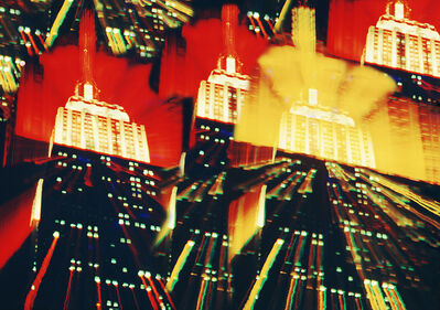 Mitchell Funk, 'Empire State building Multiple  Exposure Zoom', 1970