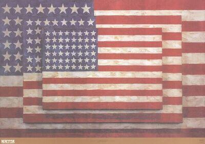 Jasper Johns, '3 Flags', 2004