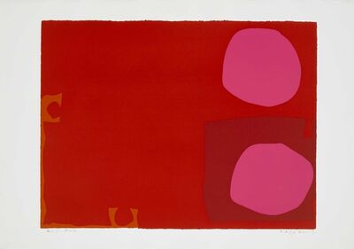 Patrick Heron, 'Two Pink Discs in Dark Reds', 1970