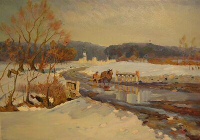 Vladimir Frolovich Stroev, 'Winter road', 1955