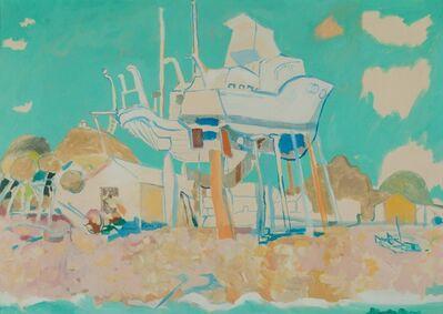 Fulvio Bianconi, 'Riva Trigoso (Genova), beach with boat', 1960 ca