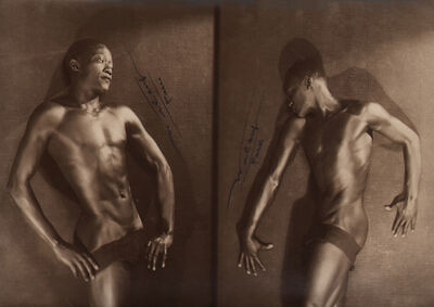 Lucien Walery, 'Feral Benga Diptych', ca. 1925