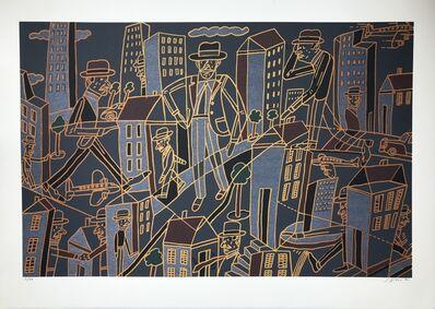 Antonio Seguí, 'Ville nocturne', 1990
