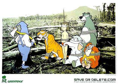 Banksy, 'Disney Save Or Delete (for Greenpeace)', 2002