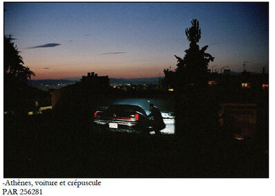 "Patrick Zachmann, '""Un jour, la nuit"", outdoor movie theater, Greece', 2003"