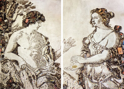 Vik Muniz, 'Apollo and the Cumaean Sibyl, after Giovanni Domenico Cerrini - Diptych', 2007