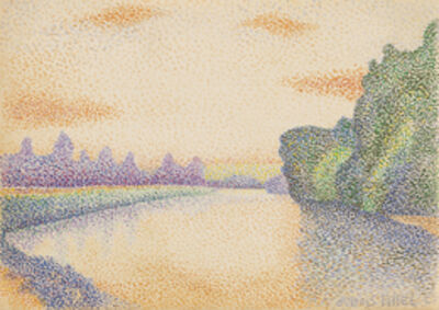 Albert Dubois-Pillet, 'The Banks of the Marne at Dawn', 1888