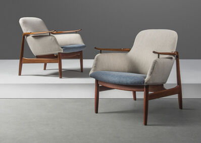 Finn Juhl, 'A pair of armchairs, model no. FJ53', designed 1953