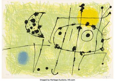 Joan Miró, 'Le Lazard aux plumes d'or', 1967