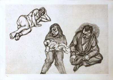Lucian Freud, 'Four Figures', 1991