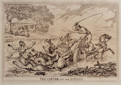 Thomas Rowlandson, 'The Carter and the Gypsies', 1815