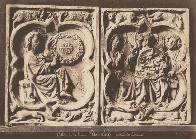 Jean-Louis-Henri Le Secq, 'Base Reliefs from the Rouen Cathedral, Portail des Libraire', 1854-56