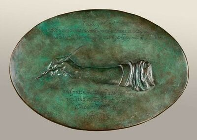Elliot Offner, 'Tribute to Wolfgang Fugger (bas-relief)', 1998