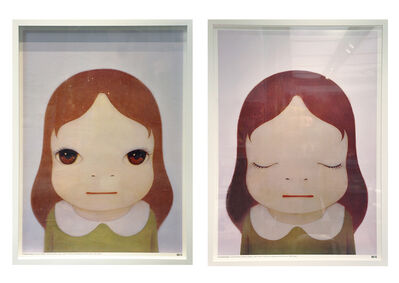 Yoshitomo Nara, 'Cosmic Girl, Eyes Open and Eyes Close ', 2008