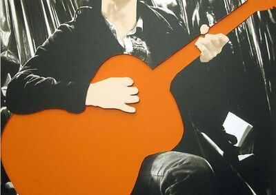 John Baldessari, 'Person with Guitar (Orange)', 2004