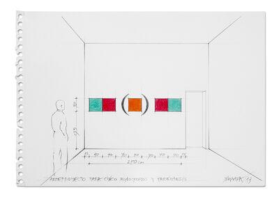 Horacio Zabala, 'Anteproyecto para cinco monocromos y paréntesis', 2013
