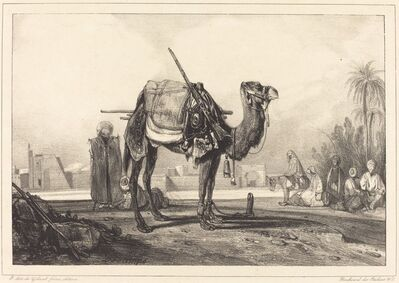 Alexandre-Gabriel Decamps, 'Camel and Arabs', mid 19th century
