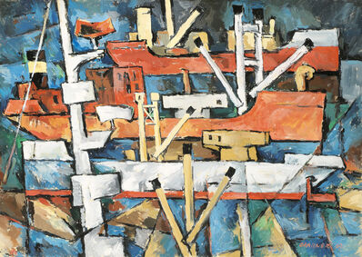 Egon Ferdinand Grabner, 'Barges', 1969
