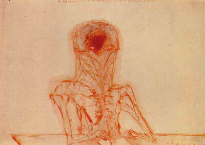 Walter Pichler, 'Der ist bestimmt nicht darauf aus, nur irgend etwas zu zeichnen', 1972