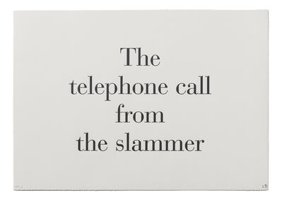 """Louise Bourgeois, '""""The Telephone Call from the Slammer"""" from """"What is the Shape of this Problem?""""', 1999"""