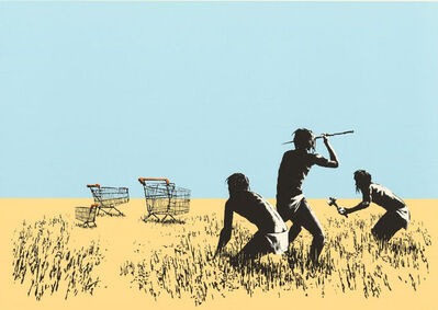 Banksy, 'Trolley Hunters (Colour)', 2007