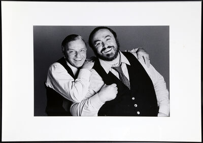 Francesco Scavullo, 'Frank Sinatra and Luciano Pavarotti', 1983