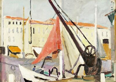 Mildred Bendall, 'Harbour, Ile de Ré', ca. 1930