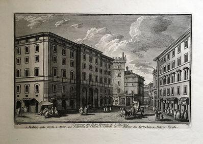 Giuseppe Vasi, 'Convento dei Padri Eremiti di S. Agostino. Plate 123 from Delle Magnificienze di Roma Antica e Moderna', 1747-1761