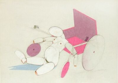 Renate Bertlmann, 'Jointed Doll with Wheelchair', 1975