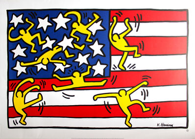 Keith Haring, 'Untitled (Flag)', 1992