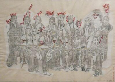 """Magdalena Jitrik, 'Orquesta roja. """"Reunidos""""', 2008"""