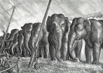 John Steuart Curry, 'Elephants', 1936