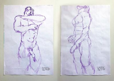 Celso Castro, 'Duchándome, May 28th (Diptych)', 2018