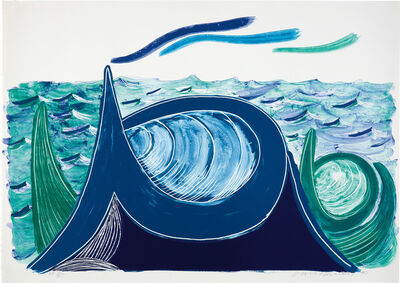 David Hockney, 'The Wave, A Lithograph', 1990
