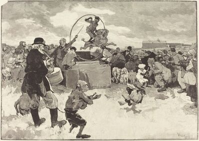 Daniel Vierge, 'Les Chiens savants', 1883