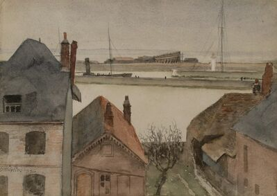Homer Dodge Martin, 'Etaples Harbor—France', 1885