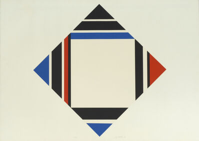 Ilya Bolotowsky, 'Diamond - Red, Blue, Black', 1969