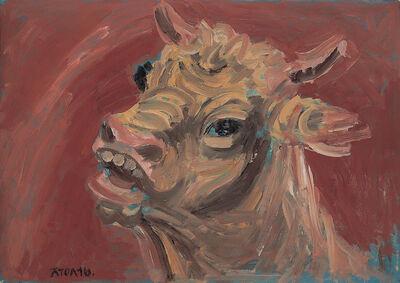 Joong Seop Lee, 'A Bull', 1953-1954