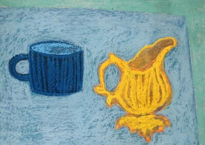 Angela A'Court, 'Blue Cup, Yellow Jug', 2015