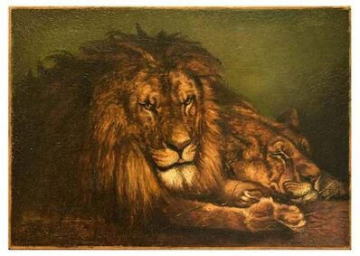 Unknown, 'Lion and Lioness', Early 20th Century