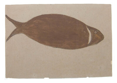 Bill Traylor, 'Big Brown River Fish'