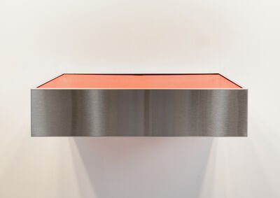 Donald Judd, 'Untitled (Stainless Steel/Red)', 1979