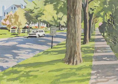 Fairfield Porter, 'Tree-lined Street', 1972