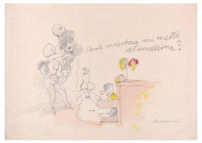Mino Maccari, 'Quale maschera mi metto stamattina?', Mid 20th Century